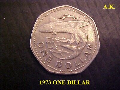 1973 barbados one dollar  PROOF LIKE