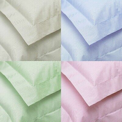 Great Knot  STRIPPED 100% Egyptian Cotton TC200 Cambridge blue green Pillowcases