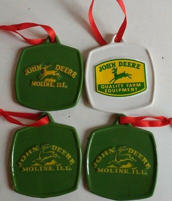 NEW JOHN DEERE CHRISTMAS ORNAMENTS set of 4