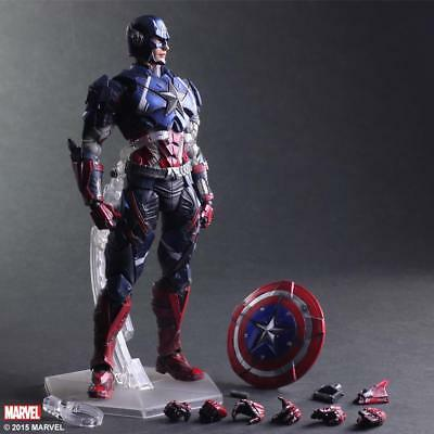 Play Arts Kai Marvel The Avengers Captain America Action Figur Spielzeug Mit Box