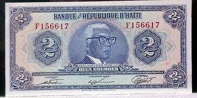 1979 2 Gourdes from HAITI P 231 Uncirculated Bank Note C-016