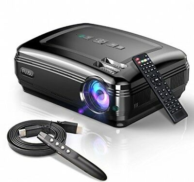 Video Projector,FUJSU HD LED LCD Projectors 1080P HDMI USB VGA SD Card AV For