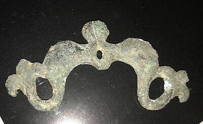 Greek bronze hellenic handle with dolphins