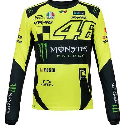 Valentino Rossi VR46 Moto GP Monster Replica Long Sleeve T-shirt Officiel 2018