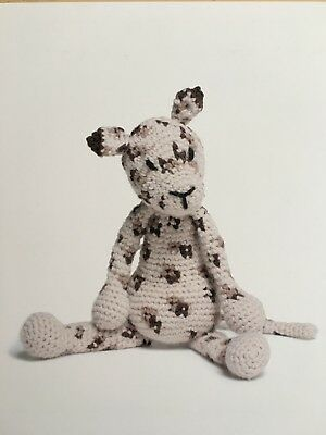 TOFT Tom the Leopard A5 postcard crochet pattern by Kerry Lord