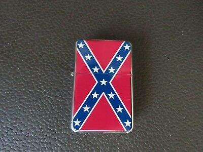 UNFILLED Rebel Battle Flag Lighter with Instructions to Fill