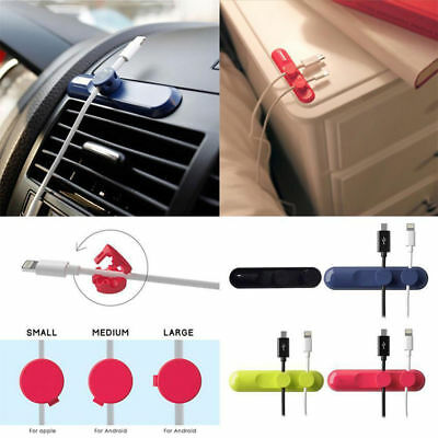 2-PACK or 3-PACK Magnetic Wire Holder / Cable Organizer, 4 Colors, Free Shipping