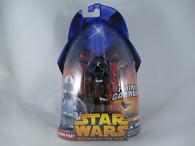 Star Wars Revenge Of The Sith Clone Pilot Black Firing Cannon Rots Moc