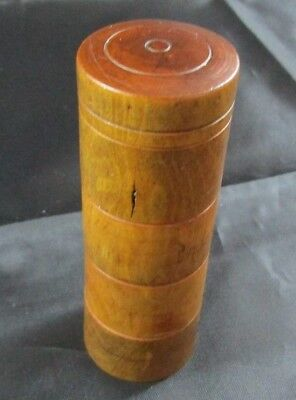 Antique Treen 4 Section Spice Tower - Turned Wood