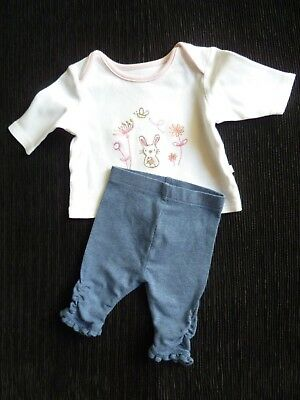 Baby clothes GIRL premature/tiny<7.5lb/3.4k outfit rabbit top LS/ruched leggings