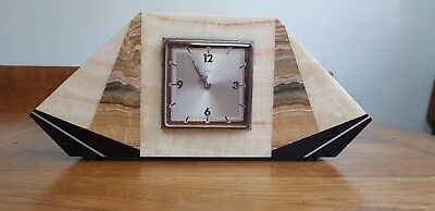 vintage french bayard 8 day mantle  clock marble case