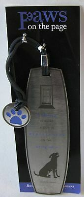 NEW Set of 3 ~ Dog Lover Metal Bookmarks ~ Paws on the Page