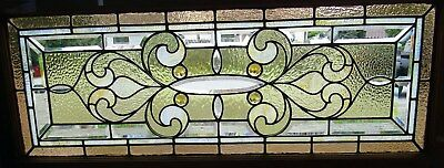 Victorian Stained And Beveled Glass Combination Window