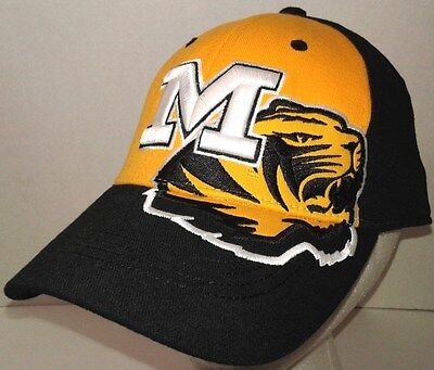 huge discount 7273b ee95b TOW Missouri Tigers Cap MIZZOU Official Licensed NCAA M L One Fit Stretch  Hat