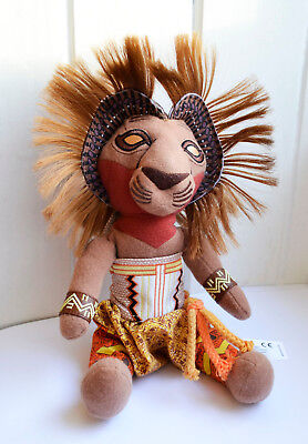 """The Lion King Simba Soft Plush Toy Broadway Musical souvenir 10"""" tall African"""