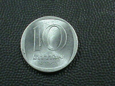 ISRAEL  10 Agorot  1979   UNCIRCULATED   ,    $ 2.99  maximum  shipping  in  USA