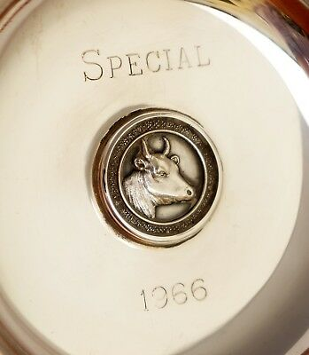 55.4gm Sterling Silver Agricultural Trophy Dish. Ayrshire Cattle Society 1966.