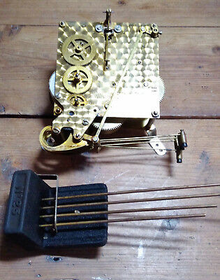 Smith Westminster Chiming mantel clock mechanism + chimes