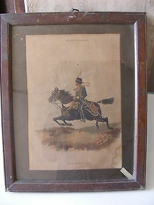 14th HUSSARS ORIGINAL  PRINT MILITARY TYPES- NO. 24.