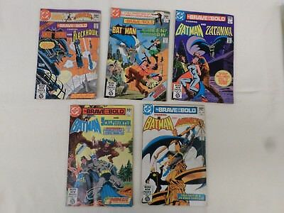 Lot of 5 DC Comics The Brave and The Bold 1980 & 81 Bat Man #'s 167-171  LL 500