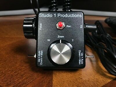 Studio One Productions Panasonic camcorder remote zoom, iris and focus controlle