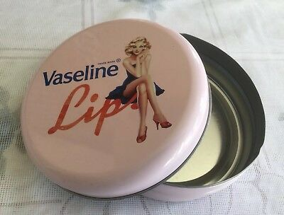Rare And Unique Large Vaseline Lip Therapy Storage Tin in very good condition