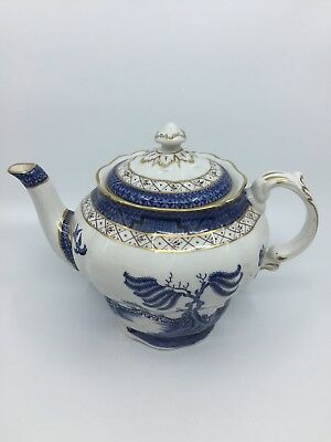 Royal Doulton Teapot Real Old Willow 5 Cup Majestic Collection TC1126 Blue UK