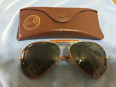 Vintage Ray-Ban Bausch & Lomb Craft Leather Series Outdoorsman Aviator