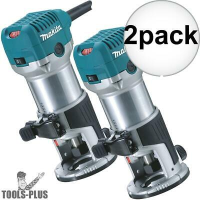 Makita RT0701C 1-1/4 HP Variable Speed Compact Router 2x New