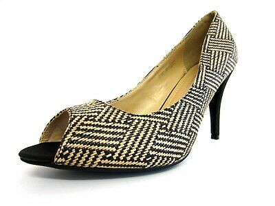 Spot on Ladies Peep Toe Court Shoes F1R907 R8A