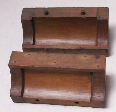 "Lamson Industrial Foundry Wood ~6 3/4"" Machine Part Mold Pattern Steampunk M57B"