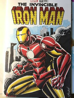 Invincible Iron man 600 sketch cover variant