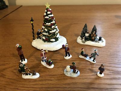 Hawthorne Village - Light-Up Christmas Tree and Winter Figures - Miscellaneous