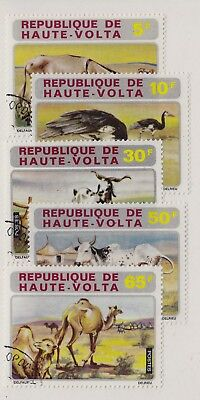 BURKINA FASO CTO Scott # 282-286 Animals - remnants (5 Stamps)