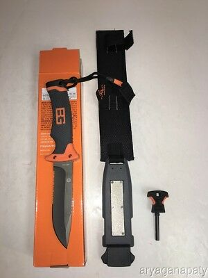 Gerber Bear Grylls Ultimate Knife Fire Starter Survival Hunting Fishing NEW