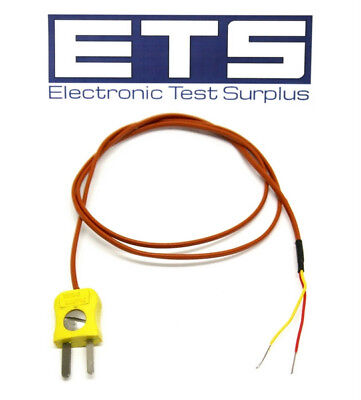 "Thermo Electric Type K Thermocouple Plug w/ 24"" Wire Lead"