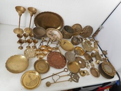Large Job Lot of Antique & Vintage Brass Items Collection - Mixed Items