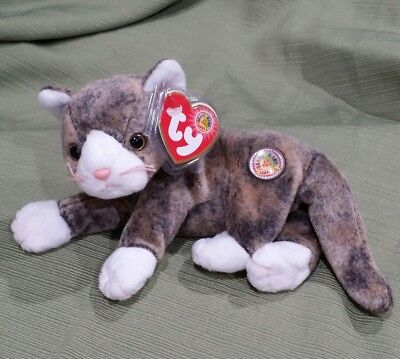 0734ae35fd1 TY FRISKY THE CAT BEANIE BABY - MINT with MINT TAG - RETIRED BBOM ...