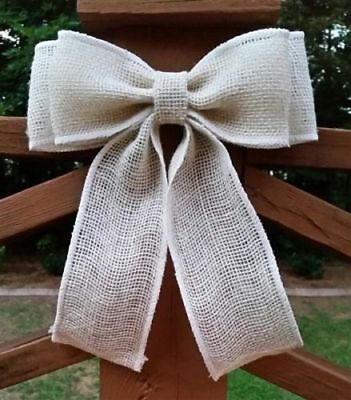 125 Burlap Chair Sashes Bows 100/% Refined Natural Jute Squared end Wedding Event