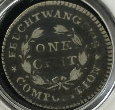 1837 Feuchtwanger Composite Small One Cent Eagle Hard Times Token ##ZS19