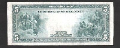 Rare Type-A New York 1914 $5 Large Federal Reserve Note
