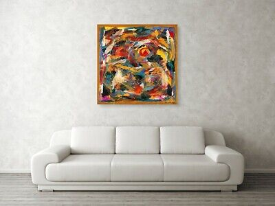 CONTEMPORARY WALL DECOR, modern Art,bstract Painting, Acrylic On Canvas, FETUS