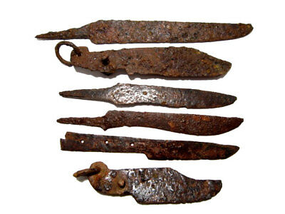 LOT OF 6pcs. ANCIENT ROMAN IRON KNIVES, WELL CLEANED AND PRESERVED+++