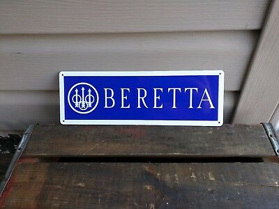 BERETTA FIRE ARMS Metal Sign 9MM Hunting Shop Store 4x12 50043