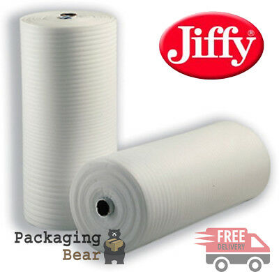 1 x 500mm x 20M 1.5mm THICK Roll Of GENUINE JIFFY FOAM WRAP Underlay Packing