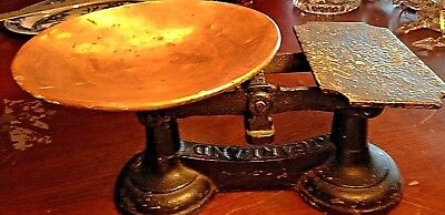 Antique Balance Scales, J Garland & Co., Cast iron w/Copper Tray-Great Condition