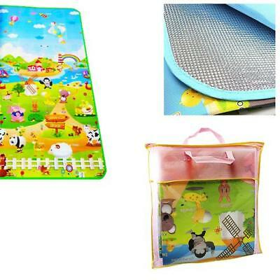 Kids Crawling Educational Game Play Mat Soft Foam Picnic Carpet