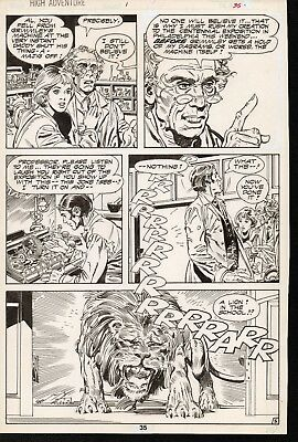 1984 MARVEL Amazing High Adventure #1 ORIGINAL COMIC ART TALAOC Roaring LION