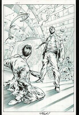 2011 DC Comics MISTER TERRIFIC #1 Pg.20 SPLASH art Gugliotta FAUCHER THE NEW 52