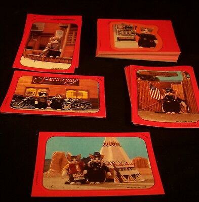PERLORIAN CATS Sticker Set 1983 Topps    Cat pictures